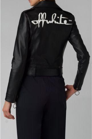 Купить Куртка кожаная OFF WHITE