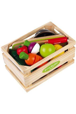 Купить Набор фруктов и овощей в ящике Janod