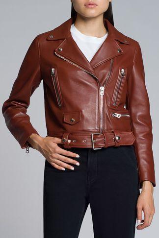 Купить Куртка кожаная ACNE STUDIOS