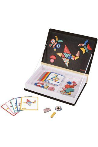 """Купить Книга-игра """"мозаика в геометрии"""" магнитная Janod"""