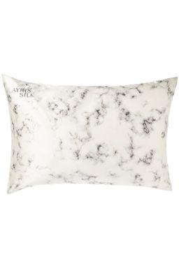 Купить Наволочка  из нат шёлка (белый мрамор) Beauty Sleep
