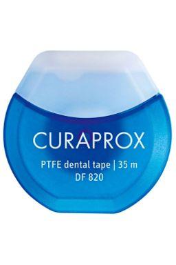 Купить Нить межзубная тефлоновая с хлоргексидином, 35 м CURAPROX