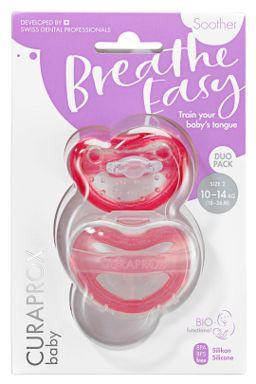 Купить Набор из двух функциональных сосок curaprox - розовая размер 2 CURAPROX
