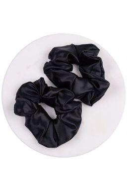 Купить Резинки широкие из нат шёлка наб 2 шт (чёрный) Beauty Sleep
