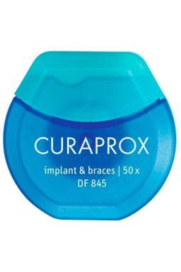 Купить Нить межзубная нейлоновая implant & braces (50шт) CURAPROX